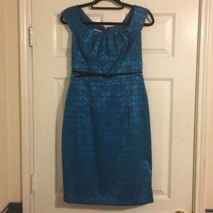 Classic Belted Sheath Dress